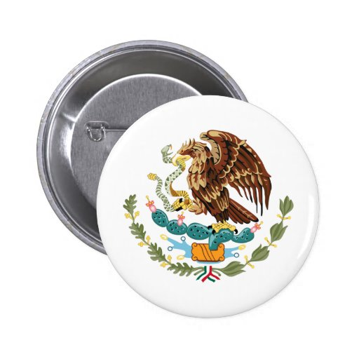 Mexico Coat of Arms Pin Back Button
