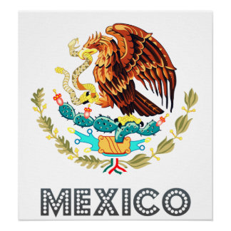 Mexico Coat of Arms Poster