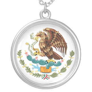 Mexico Coat of Arms Sterling Silver Necklace