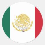 México con los brazos de oro y de plata, México Pegatina Redonda