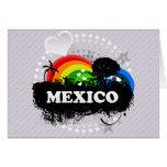 México con sabor a fruta lindo felicitación