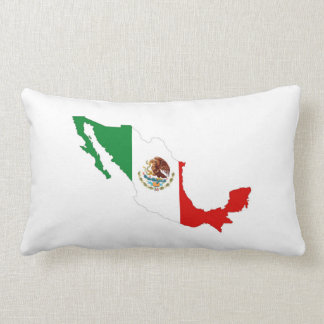 mexico country flag map shape mexican pillow