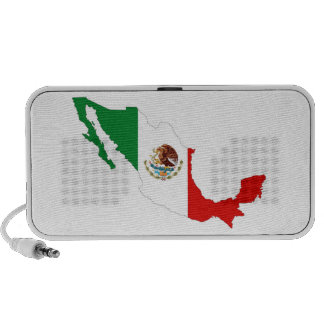 mexico country flag map shape mexican mini speakers