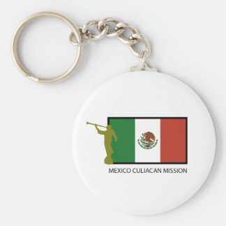 MEXICO CULIACAN MISSION LDS CTR BASIC ROUND BUTTON KEYCHAIN