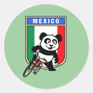 Mexico Cycling Panda Sticker