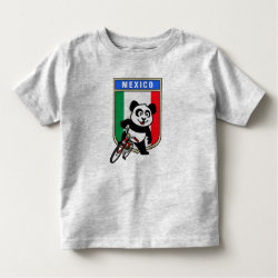 Toddler Fine Jersey T-Shirt with Mexico Cycling Panda design