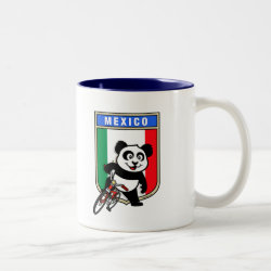 Two-Tone Mug with Mexico Cycling Panda design