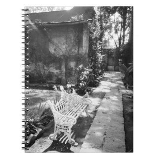 MEXICO, D.F., Mexico City, COYOACAN: Bench at Notebook