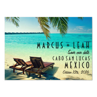 Mexico Destination Wedding Save the Date 4.5x6.25 Paper Invitation Card