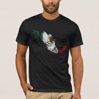 Mexico Distressed Flag T-Shirt