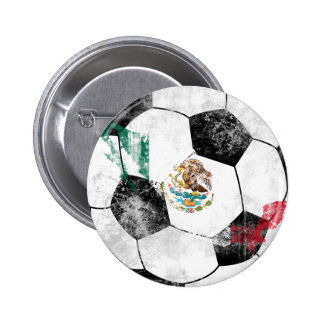 Mexico Distressed Soccer 2 Inch Round Button
