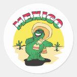 México divertido pegatina redonda