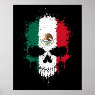 Mexico Dripping Splatter Skull Print