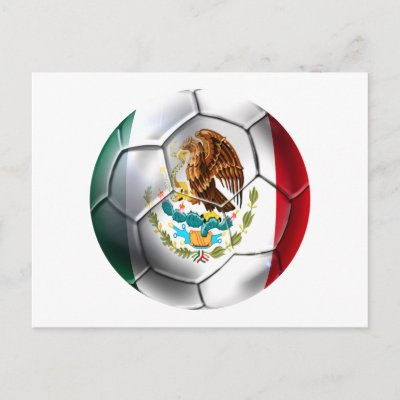 mexico flag. soccer ball Mexican flag