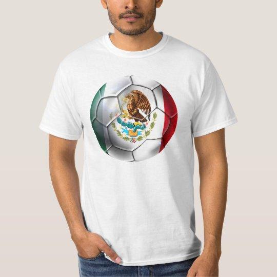 Mexico el Tri soccer ball Mexican flag gear T-Shirt