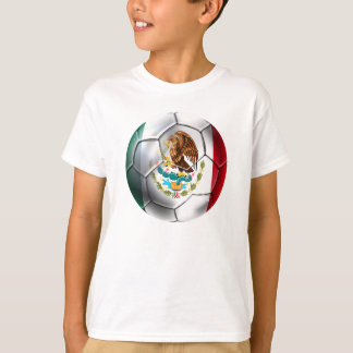 Mexico el Tri soccer ball Mexican flag gear T-Shirt