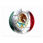 Mexico el Tri soccer ball Mexican futbol flag bola Post Cards