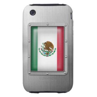 México en acero inoxidable funda resistente para iPhone 3