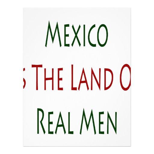 México es la tierra de hombres reales membrete