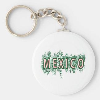 MÉXICO - ESTILO DECORATIVO LLAVERO REDONDO TIPO PIN