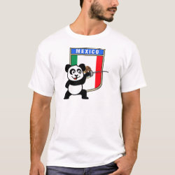 Men's Basic T-Shirt with Mexican Fencing Panda design