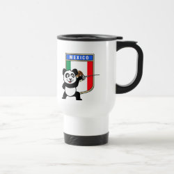 Travel / Commuter Mug with Mexican Fencing Panda design