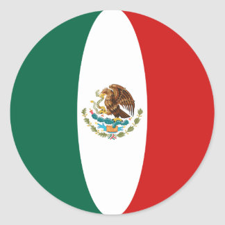 Mexico Fisheye Flag Sticker