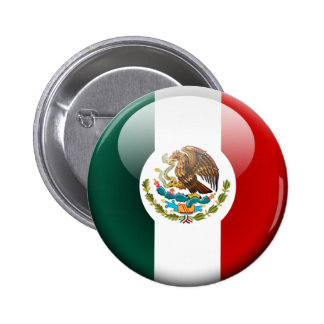 Mexico Flag 2.0 2 Inch Round Button