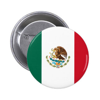 Mexico Flag 2 Inch Round Button