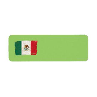 MEXICO FLAG Address Label