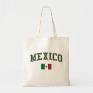 Mexico + Flag Tote Bags
