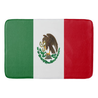 Mexico flag bath mat