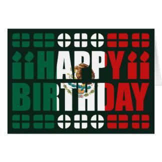 Mexico Flag Birthday Card