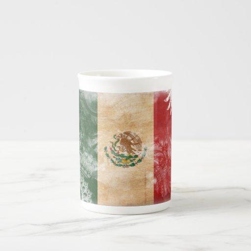 Mexico Flag Bone China Mugs