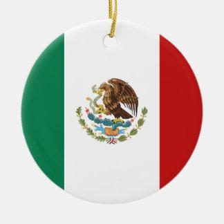 Mexico Flag Ceramic Ornament