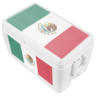 Mexico flag chest cooler
