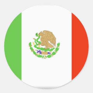 Mexico Flag Classic Round Sticker