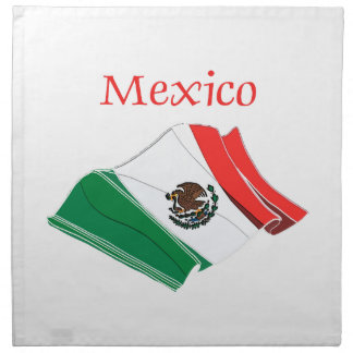 Mexico Flag Cloth Napkins
