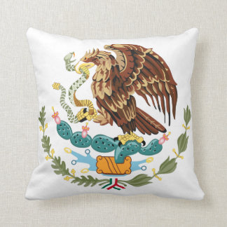 Mexico Flag Coat of Arms Pillow