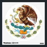 """Mexico Flag Coat of Arms Wall decal<br><div class=""""desc"""">A vector (for high quality print) graphic replica of a Mexico Flag Coat  of Arms by artist/designer Charmaine Paulson on a wall decal.</div>"""