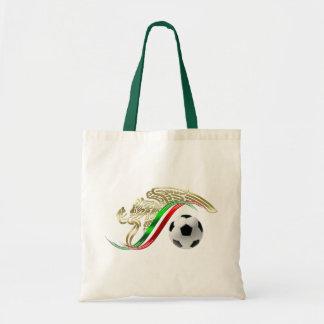 Mexico flag emblem Soccer futbol Logo Budget Tote Bag