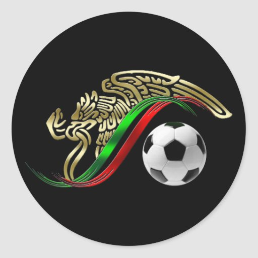 Mexico flag emblem soccer futbol logo classic round for Mexican logos images