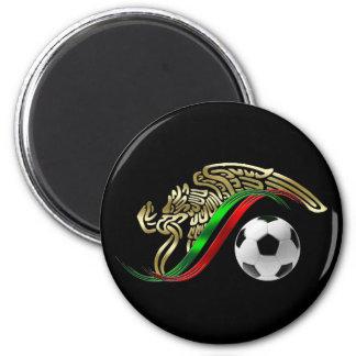 Mexico flag emblem Soccer futbol Logo 2 Inch Round Magnet