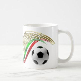 Mexico flag emblem Soccer futbol Logo Classic White Coffee Mug