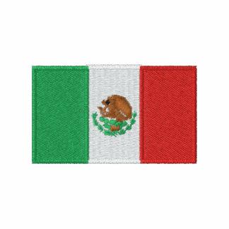 Mexico flag embroidered men's polo shirt