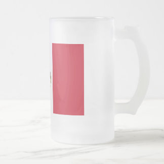 Mexico Flag Frosted Glass Beer Mug
