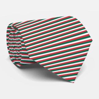 Mexico Flag Green, White, Red Pinstripe Stripes Tie