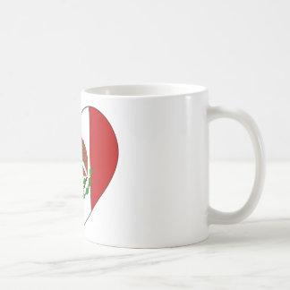 Mexico Flag Heart Coffee Mug
