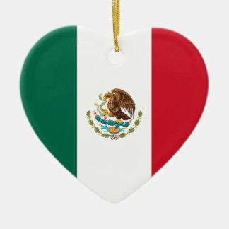 Mexico Flag Heart Ornament