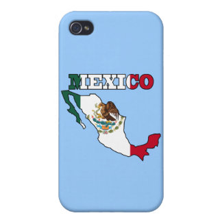 Mexico Flag in Map Case For iPhone 4